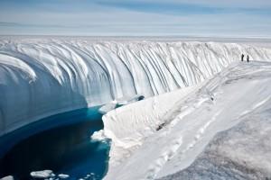 Ледниковый каньон в Гренландии