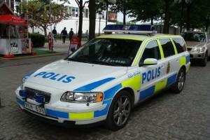 Шведский полицейский автомобиль