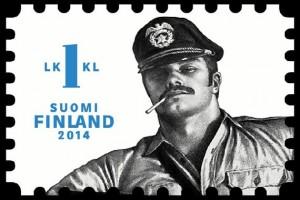 Рисунок Тоуко Лааксонена на финской почтовой марке