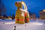 Скульптура Евльского козла вновь была сожжена вандалами