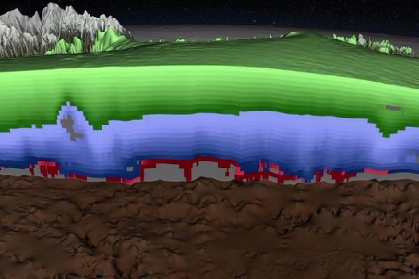 3D изображение гренландского ледникового щита