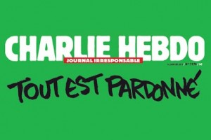 Фрагмент обложки журнала «Charlie Hebdo»