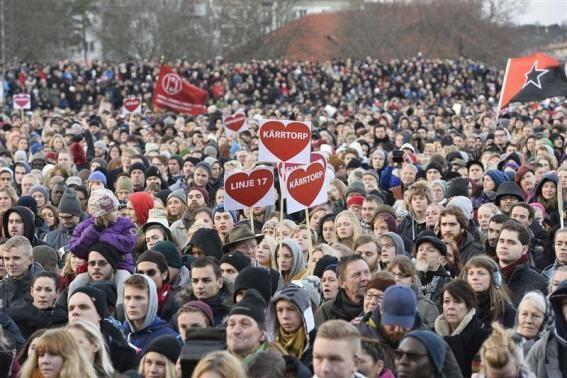 Шествие в Стокгольме против исламофобии