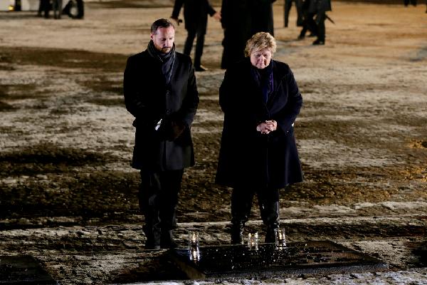 Наследный принц Хокон и премьер-министр Эрна Солберг