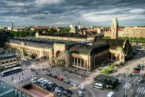 Центральный железнодорожный вокзал в Хельсинки