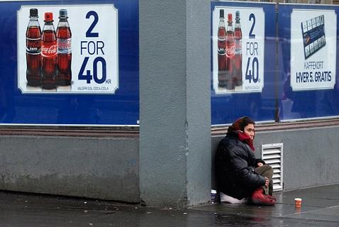 Бездомная женщина в Бергене