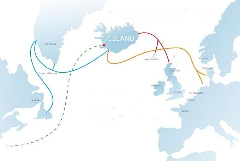 Схема инфраструктуры телекоммуникационных сетей Исландии