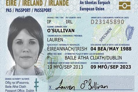 Новый пластиковый загранпаспорт Ирландии