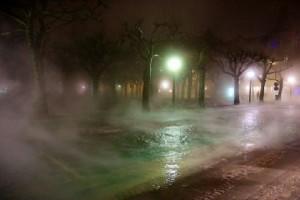 Кипящая вода на улице Лунда