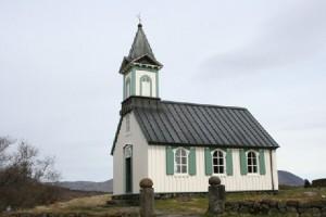 Церковь в исландском национальном парке Тингведлир