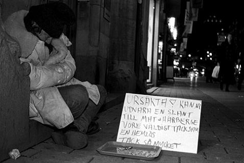 Бездомный швед