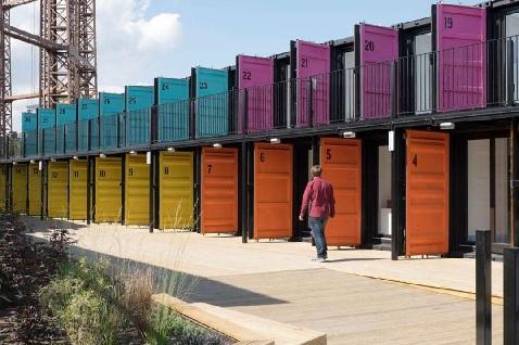 Аналогичный шведскому британский проект по созданию жилья из морских контейнеров ContainerVille