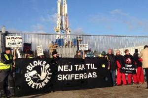 Пикет против добычи сланцевого газа в Дании