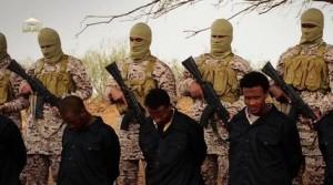 Кадр из видео с казнью эфиопских христиан
