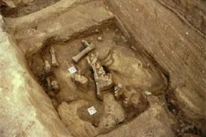 Раскопки в воронежском селе Костёнки