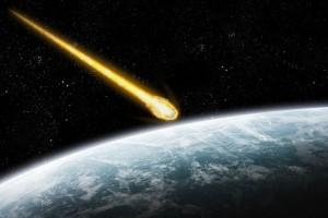 Падение метеорита в представлении художника