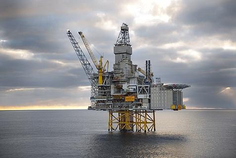 Нефтяная платформа на нефтяном месторождении Катла, Северное море, Норвегия