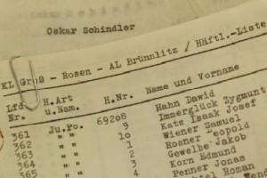 Один из оригиналов списка Шиндлера, найденный в библиотеке Сиднея
