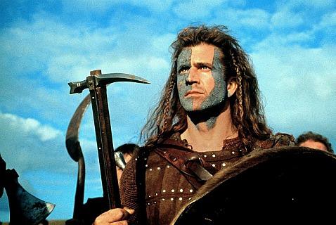 Мел Гибсон в главной роли фильма «Храброе сердце», завоевавшего пять премий «Оскар»
