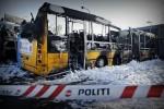 В Копенгагене сожжены и расписаны анти-израильскими граффити четыре автобуса