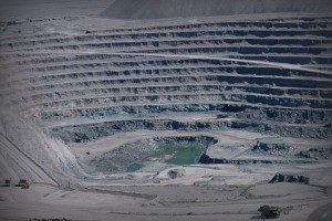 Самый большой в мире медный карьер Чукикамата, север Чили