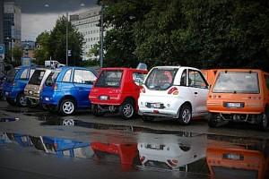 Электромобили на парковке в Осло