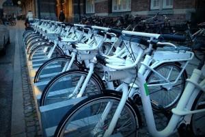Велосипеды GoBike на улицах Копенгагена