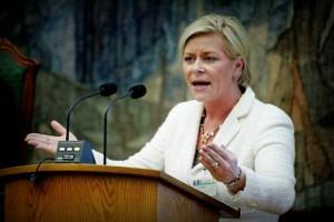 Министр финансов Норвегии Сив Йенсен