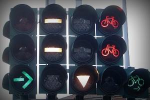 Светофор на дороге в ад велорай
