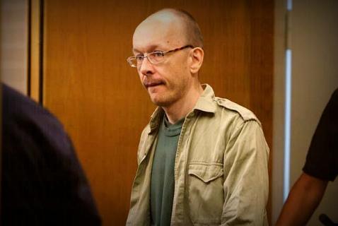 Петер Мангс в зале суда