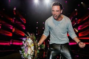 Монс Зелмерлёв радуется победе на Евровидении 2015