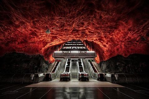 Станция метро Solna centrum, Стокгольм