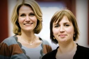 Премьер-министр Дании Хелле Торнинг-Шмитт и министр юстиции Меьье Фредериксен