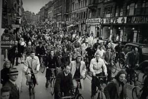 В первое время оккупации жизнь в Дании шла своим чередом. Копенгаген, 1940 год