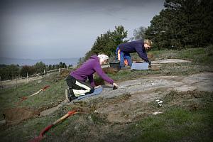 Археолог Айна Маргрете Хеен Петтерсен за любимым занятием