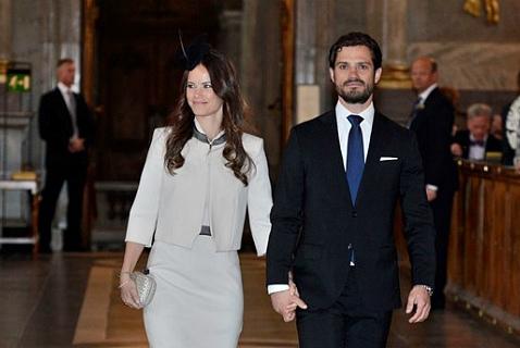 София Хеллквист и принц Карл Филипп на церемонии по случаю объявления свадьбы