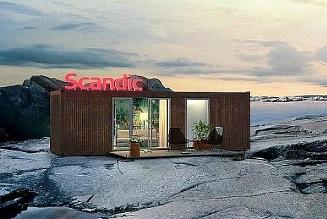 Передвижной отель Scandic в Тронхейме, Норвегия