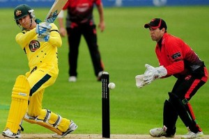 Крикет — командный неконтактный вид спорта, в котором используется бита и мяч
