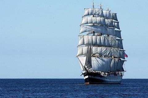 Крупнейший в мире барк «Крузенштерн» сих пор в эксплуатации