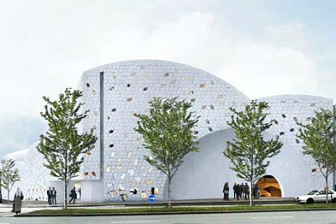 Будущая мечеть по замыслу ахритектурного бюро Henning Larsen Architects