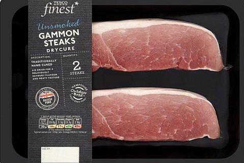 Стейк из свинины производства компании Tesco