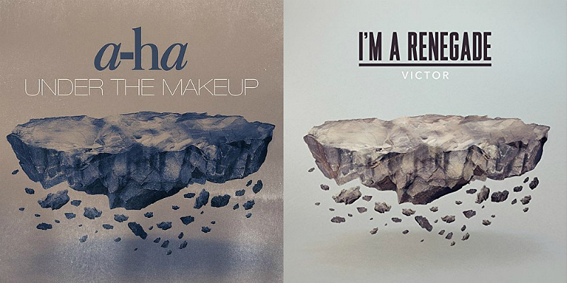 Одинаковые обложки синглов a-ha и Виктора Чиссано (фото)