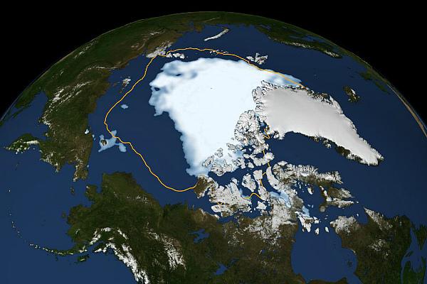 Ледяной покров Арктики в августе 2012 г. (фото)