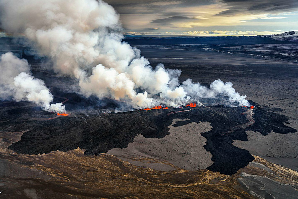 Извержение вулкана Баурдарбунга (фото)