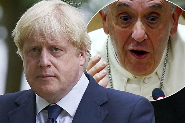 Борис Джонсон слишком занят, чтобы обсуждать экологию с Папой Римским Франциском (фото)