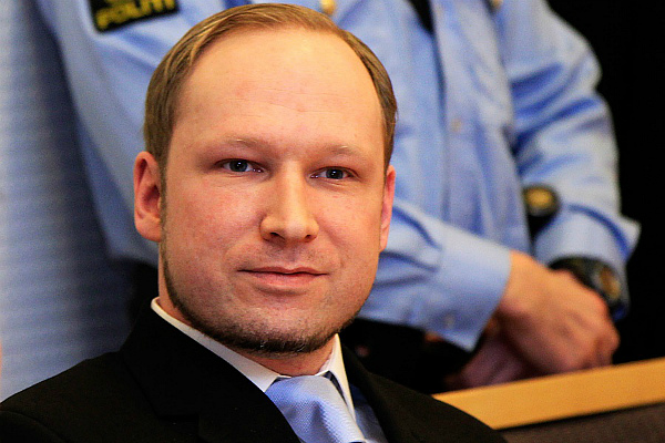 Андерс Брейвик в зале суда (фото)
