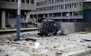 Фольксваген Брейвика после взрыва в центре норвежской столицы (фото)