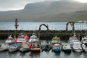 Рыбацкие лодки на Фарерских островах