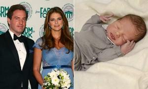 Принцесса Мадлен, ее муж Крис О'Нил и новорожденный принц Николас (фото)