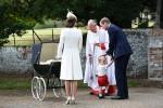 Прибытие принцессы Шарлотты на крещение в фотографиях